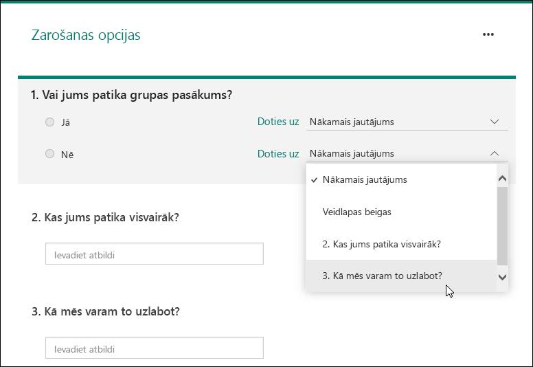 formas opcijas)