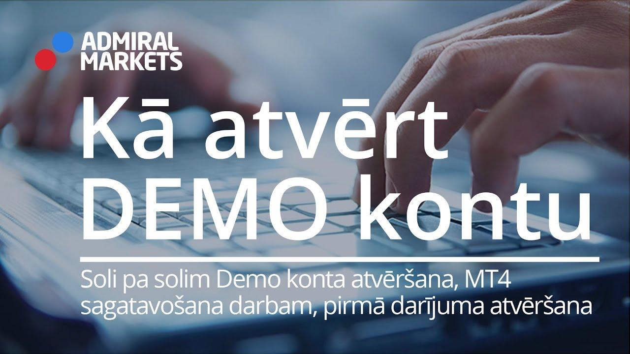 atvērt demo centu kontu)
