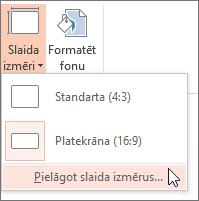 standarta opcijas)