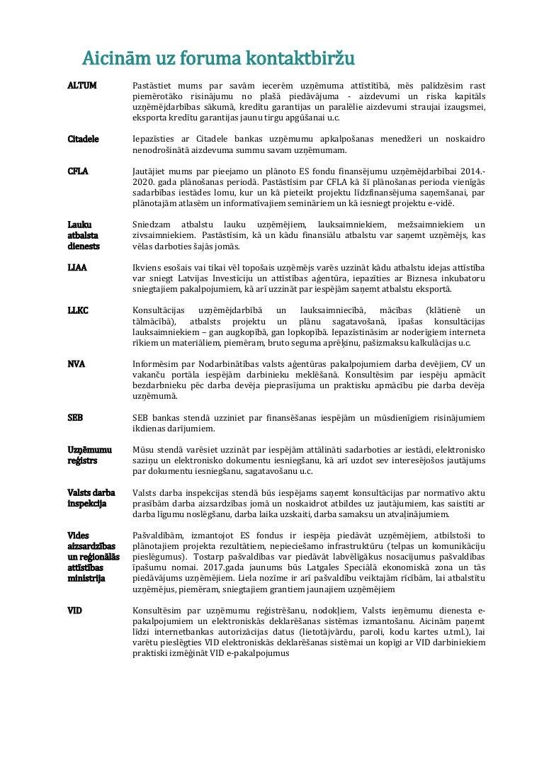 konsultācijas par iespējām)