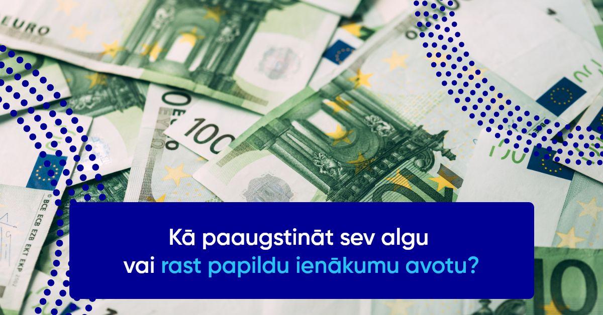 tiešsaistes ienākumu papildu ieņēmumi)