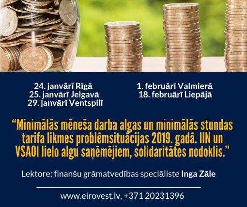 2016.gadā lielāka minimālā alga un jauna stundas likmes aprēķina kārtība