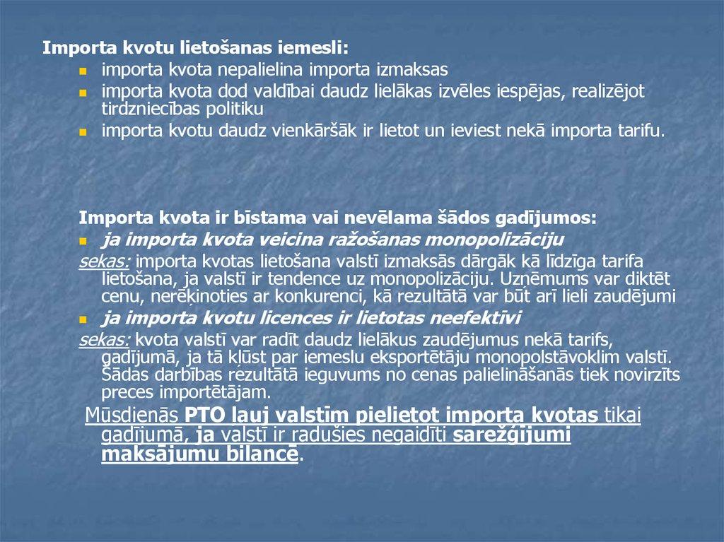 tirdzniecības iespējas izdevīgi)