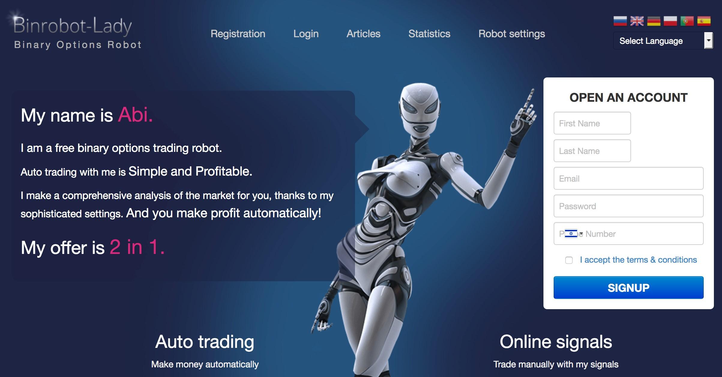 reitinga binārā robota atsauksmes)