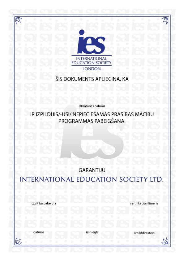 sertifikāts par iespējām cik nopelna interneta kanāli