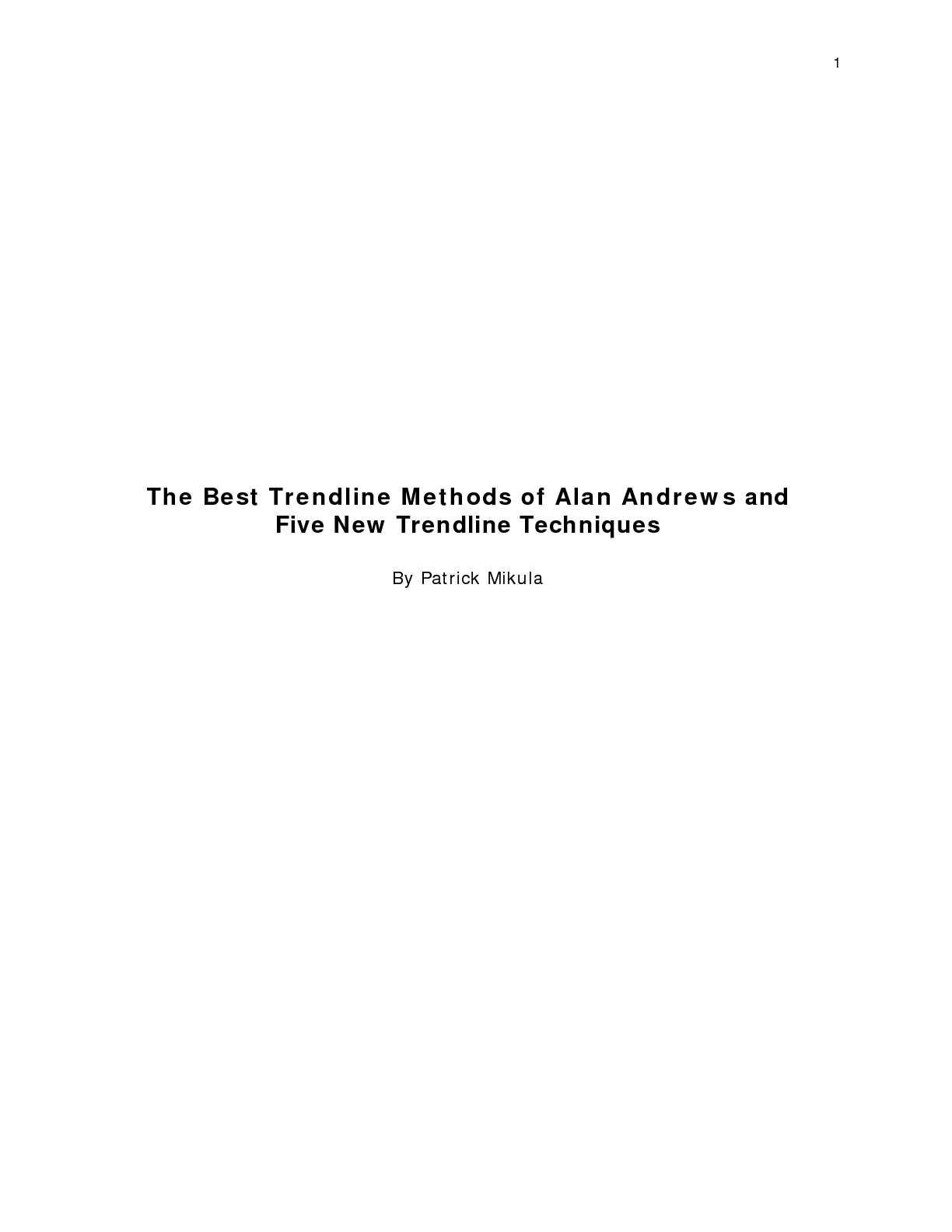 alan trendline metodes