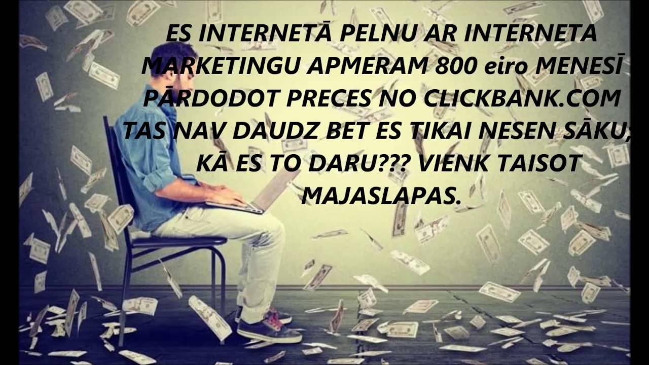 daudz naudas internetā