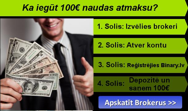 bonuss, atverot opciju kontu ieguldot tirgotājiem binārās iespējas