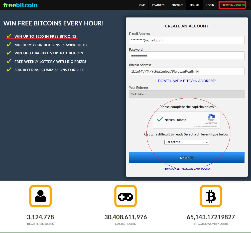 iegūt bitcoins freeroll