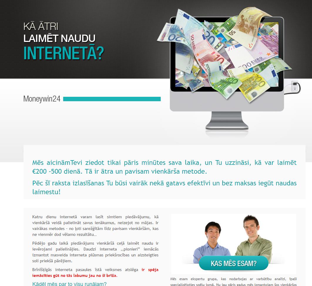 jauns naudas pelnīšana internetā