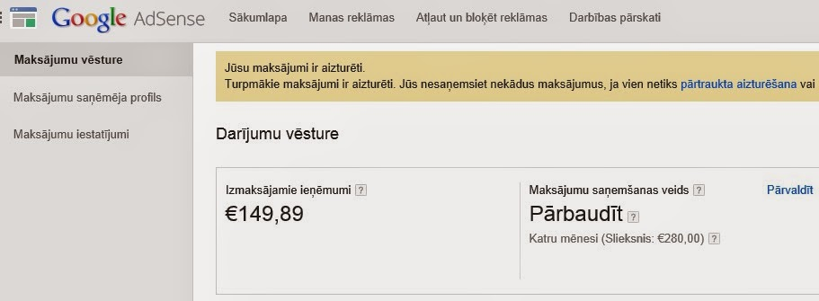 peļņas interneta naudas pārskati)